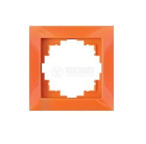 Electrical Switch Frame, LM60001, PVC, orange - 1
