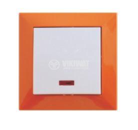 Electrical Switch Frame, LM60001, PVC, orange - 3
