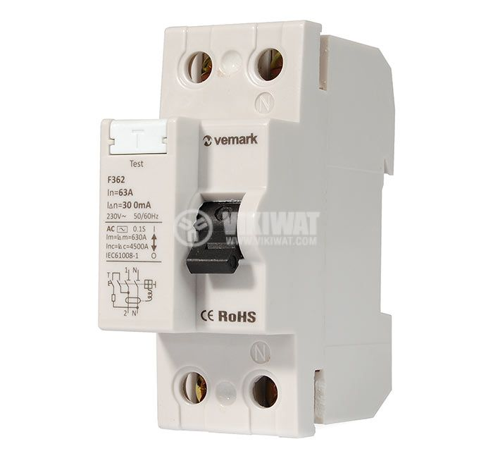 Residual Current Circuit Breaker F362 230VAC 63А 300mА - 1