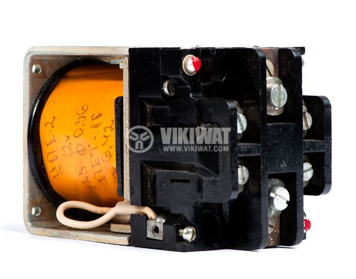 Contactor, one-pоle, coil 12VDC, SPST - NO, 25A, КПЕ-2, 2NO+2NC - 1