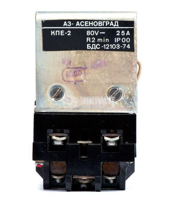 Contactor, one-pоle, coil 12VDC, SPST - NO, 25A, КПЕ-2, 2NO+2NC - 3