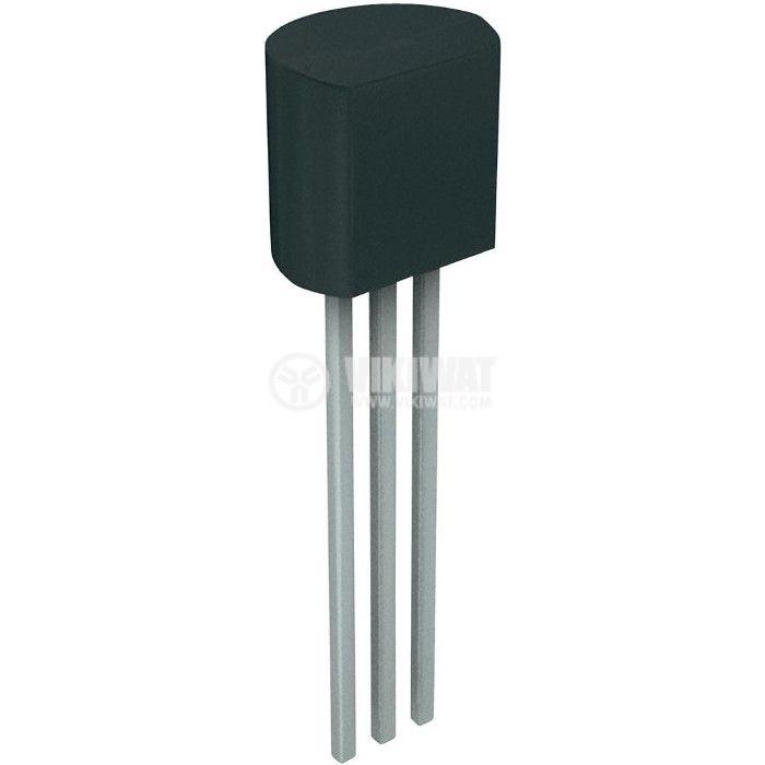 Tранзистор 2N5551, NPN, 160 V, 0.6 A, 0.625 W, 300 MHz