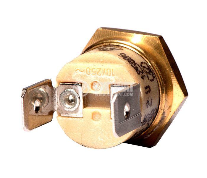 Термостат, биметален, EAW, 115°C, NC, 10A/250VAC - 3
