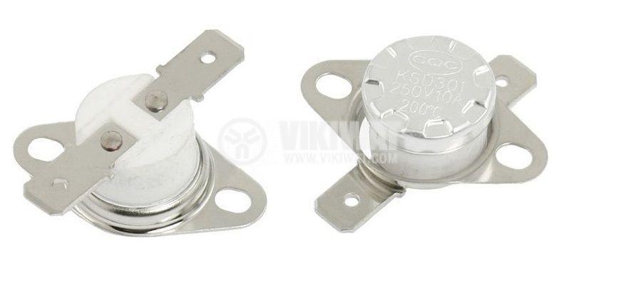 Bimetal Thermostat KSD-301A 255°C NO 10A/250VAC ceramic - 1