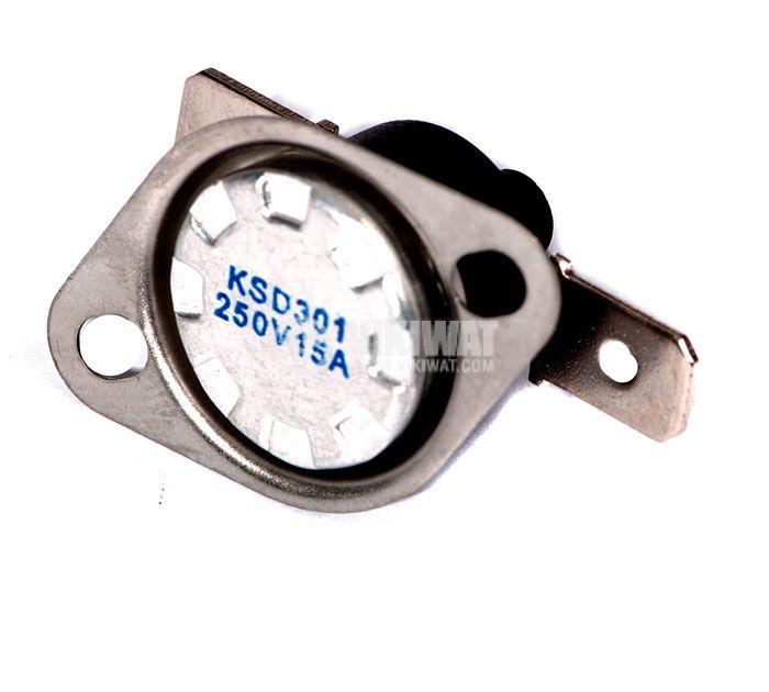 Термостат, биметален, KSD-333R, 145°C, NC, 16A/250VAC - 1