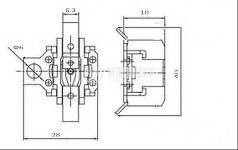 Термостат, биметален, KSD-302A, 155°C, NC, 10A/250VAC - 2