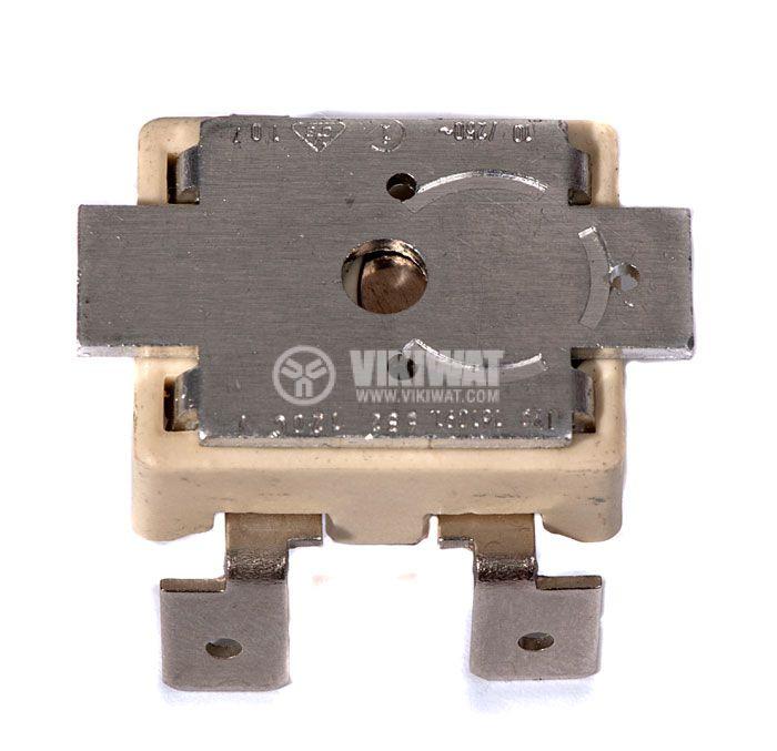 Термозащита, биметална, двойна, 114°C / 120°C, 2NC, 16A/250VAC - 1