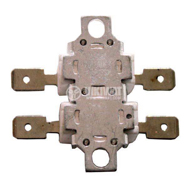 Термозащита, биметална, двойна, A2-027, 160 °C / 180 °C, 2NC, 16 А / 250 VAC - 1