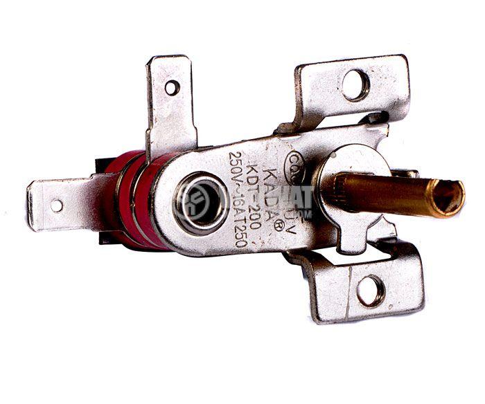 Термостат, биметален, регулируем, KDT-200, 50°C-190°C, NC, 16A/250VAC - 3