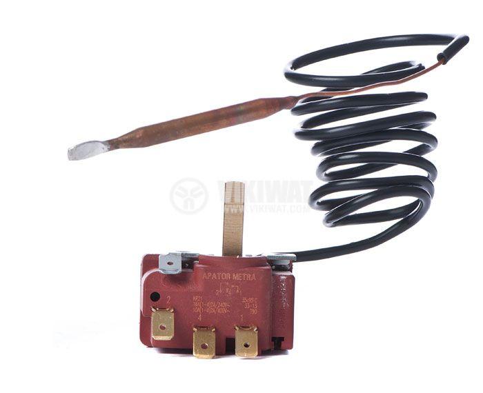 Терморегулатор, капилярен, APATOR METRA, +35 °C +95 °C, NO+NC, 16 A / 250 VAC - 2