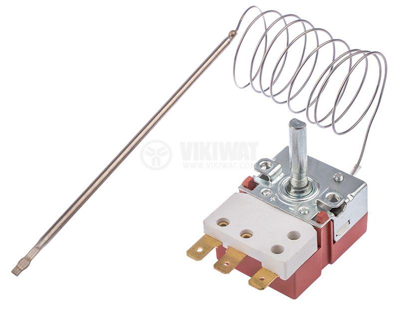 Терморегулатор, капилярен, RT8804, +50°C +320°C, NO+NC, 16A/250VAC - 1