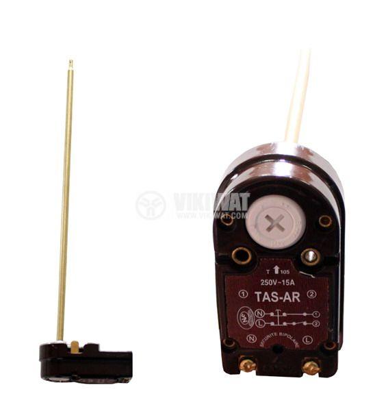 Терморегулатор, за бойлер, TAS-ARISTON, +40 °C +80 °C, 2NC, 15 A / 250 VAC, осезател 250 mm