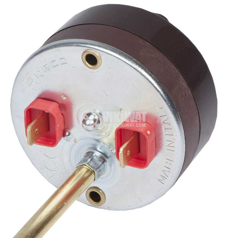 Thermostat for boiler, RECO, 10 °C to +80 °C, 2NC, 20 A / 250 VAC, probe 250 mm - 3