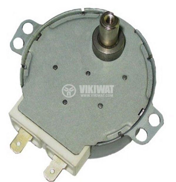 Мотор за микровълнова фурна 49TYZ-A2 220 VAC 4W 5 оборота/мин метална ос ф7mm засечка 5mm - 1
