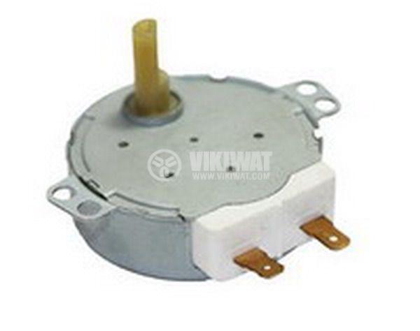 Мотор за микровълнова фурна 49TYZ-A2 220-240VAC 4W 5 оборота/мин PVC ос ф7mm засечка 5mm - 1