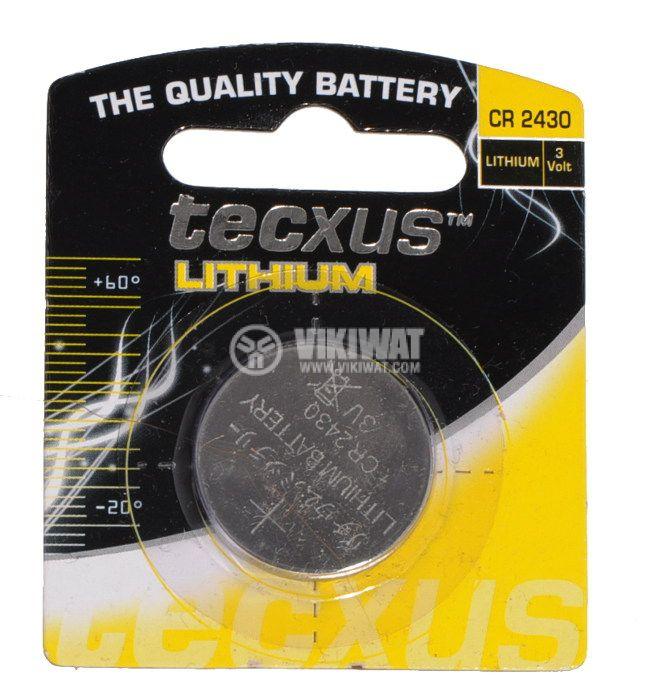 Плоска батерия CR2430, 3V, 240mAh