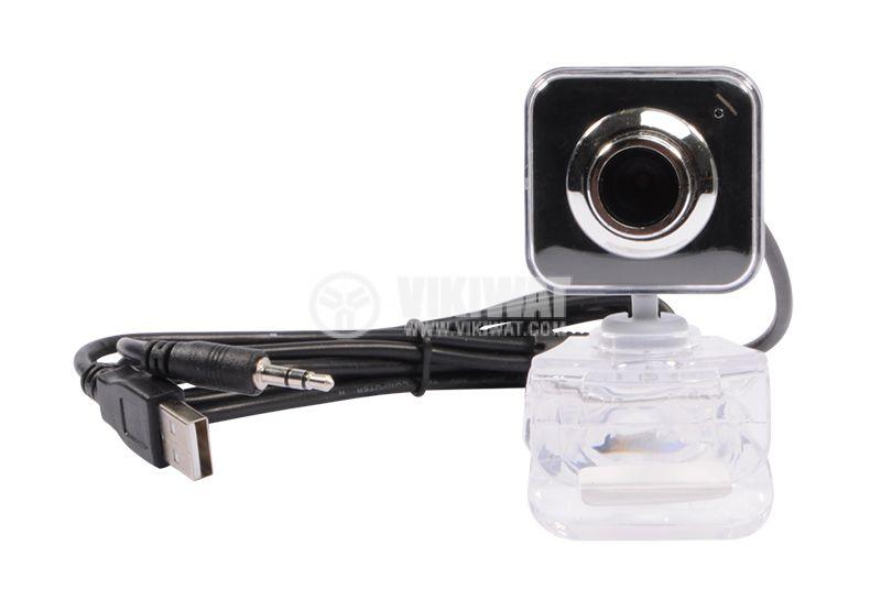 Камера за компютър, RED EYE, 3M, USB, с щипка - 2