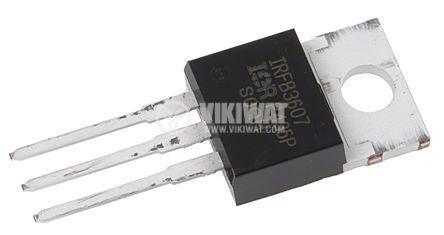 Транзистор IRFB3607PBF N-MOSFET 9mohm 75V 80A 140W ±20V