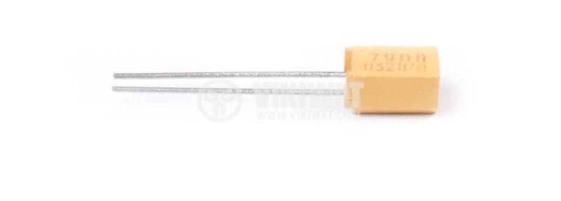 Кондензатор танталов 0.1µF (100nF)/40VDC, 790D, 4.7 X 4.2 X 7.3mm - 2