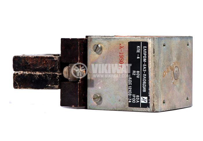 Contactor, one-pоle, coil 80VDC, SPST - NO, 63A, КПЕ-4 - 3