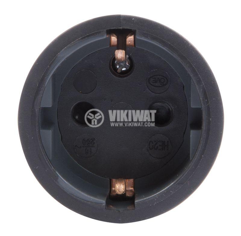 Куплунг, черен, 250VAC, гумиран, IP44, LEGRAND - 2