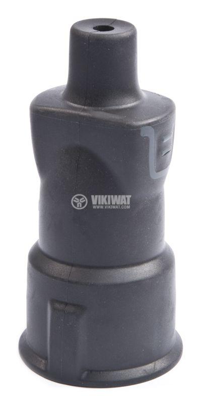 Куплунг шуко, 250VAC/ 16A, гумиран щекер с кабле назад, IP44, legrand 0 503 43 - 4