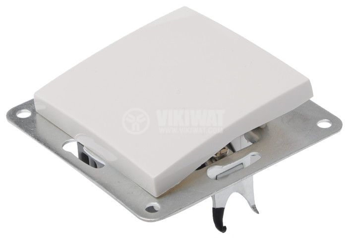 Electric Switch, white, LEXA 250 VAC, 10 A, deviatore