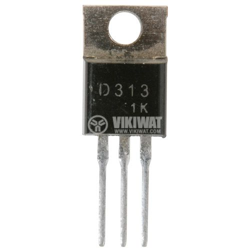 Транзистор 2SD313, NPN, Si, 60V, 3A, 30W, TO220
