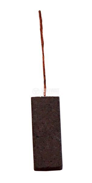 Четка въглено-графитна, 5x12.5x30 mm, с централен извод