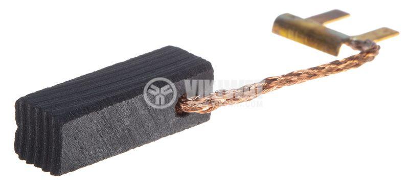 Четка 6.3x6.3x20 mm, със страничен извод, накрайник тип вилица 4 mm - 2
