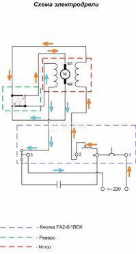 Електрически прекъсвач (ключ), регулатор на обороти и реверс за ръчни електроинструменти  FA2-6/1BEK 6 A/250 VAC - 3