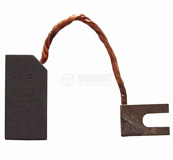 Четка въглено-графитна 8x16x30mm със страничен извод, кабелна обувка тип вилица 5mm