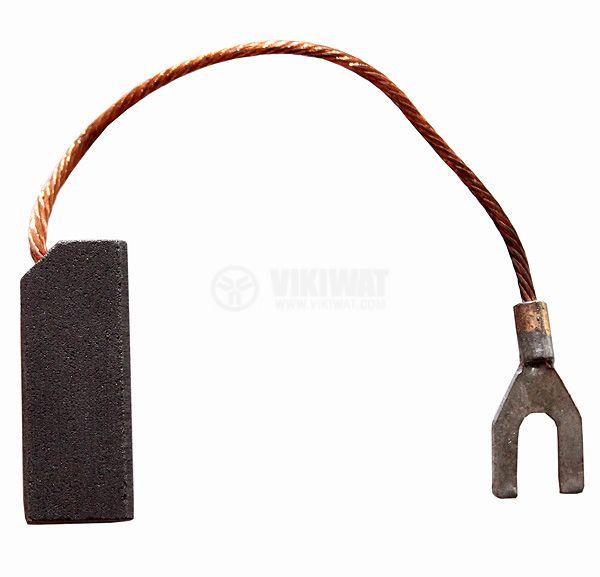 Четка въглено-графитна, E29EKL, 10x12.5x32 mm, със страничен извод, кабелна обувка тип вилица 5mm