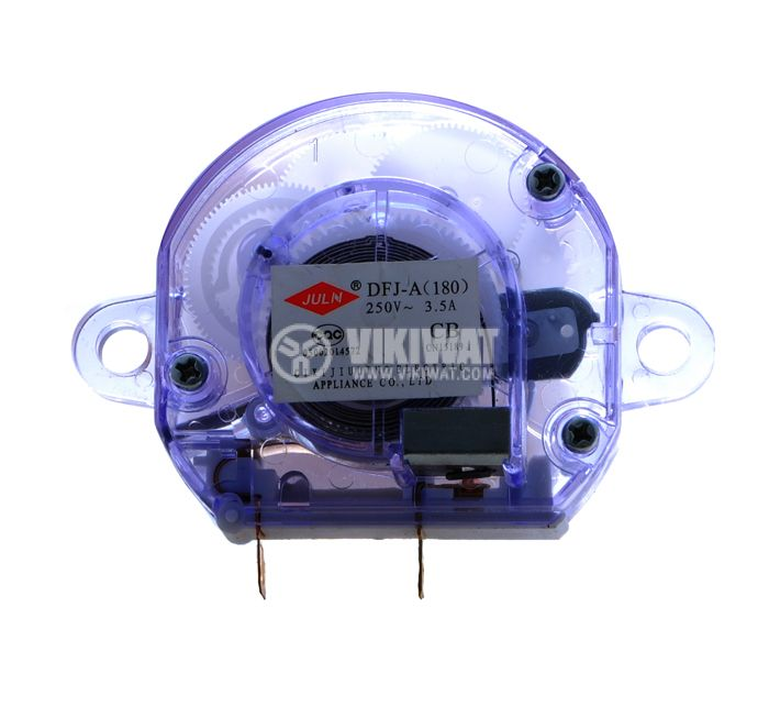 Таймер DFJ-A180-3.5A, за микровълнова, електромеханичен, NO, 250 VAC, 3.5 A, обхват от 0 до 180 min