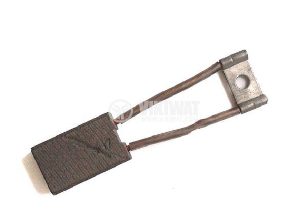 Четка въглено-графитна, 10x20x32 mm, с двоен страничен извод, кабелна обувка тип ухо 5 mm