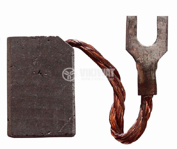 Четка въглено-графитна, E5, 12.5x25x32 mm, със страничен извод, кабелна обувка тип вилица 7 mm