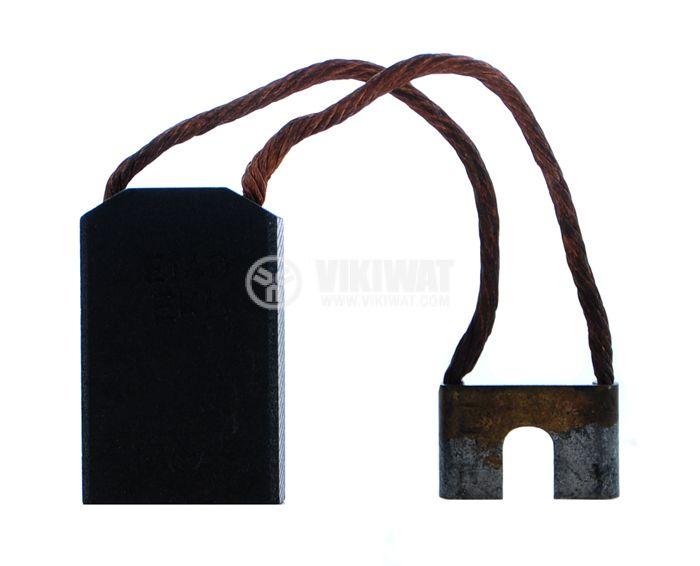 Четка въглено-графитна, E14DEKL, 16x25x40 mm със страничен извод, кабелна обувка тип вилица 6 mm