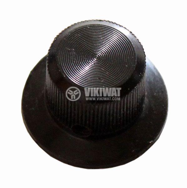Копче за потенциометър Ф28х18 mm с фланец
