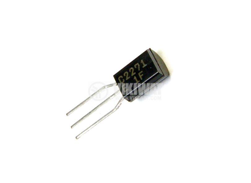 Транзистор 2SC2271, NPN, 300 V, 0.1 A, 0.9 W, 50 MHz, TO92MOD