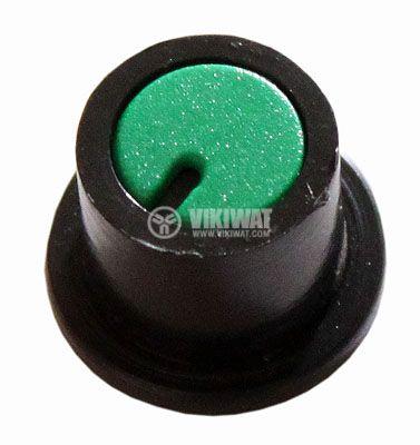 Копче за потенциометър Ф16х11 mm с фланец и индикатор