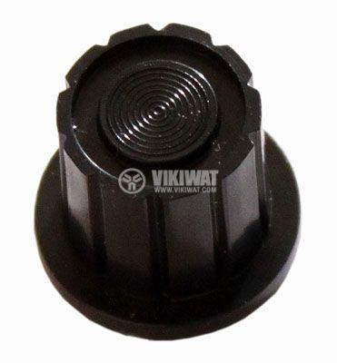 Копче за потенциометър Ф17х14 mm с фланец