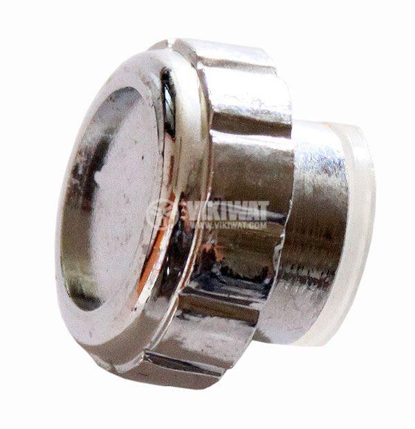 Копче за потенциометър Ф24х9 mm с индикатор сребрист цвят