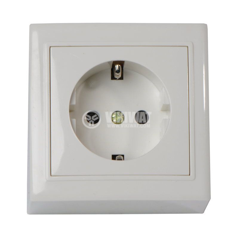 Electrical power socket MI-RZG panel mounting 6A, 250VAC, 3500W - 2