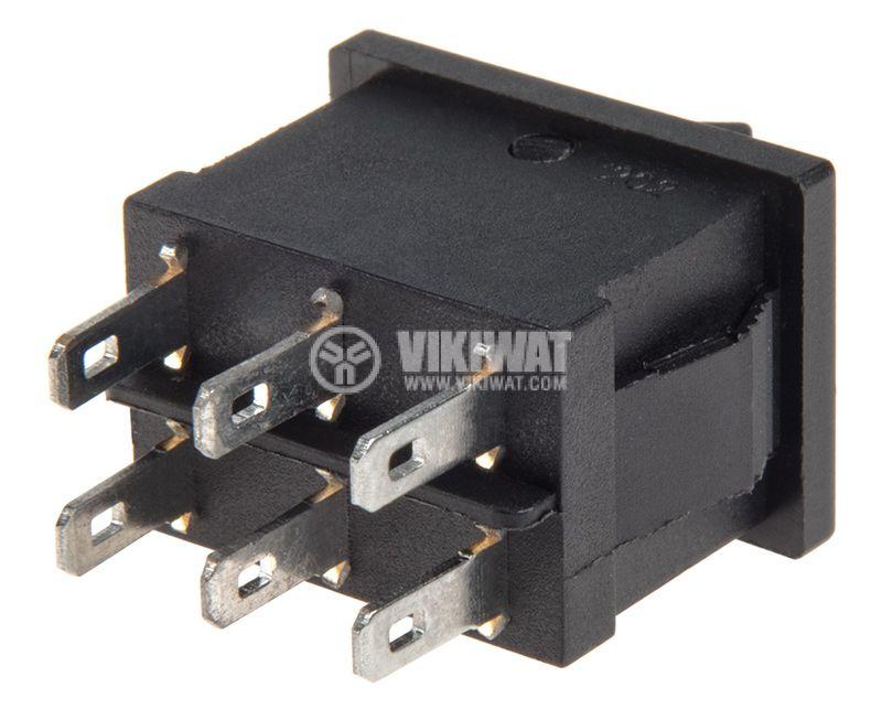 Rocker превключвател, 2 позиции, ON-ON, 6A/250VAC, отвор 20x13mm - 3