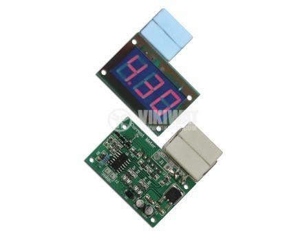 Цифров постояннотоков амперметър 0.5 A до 9.99 А DC
