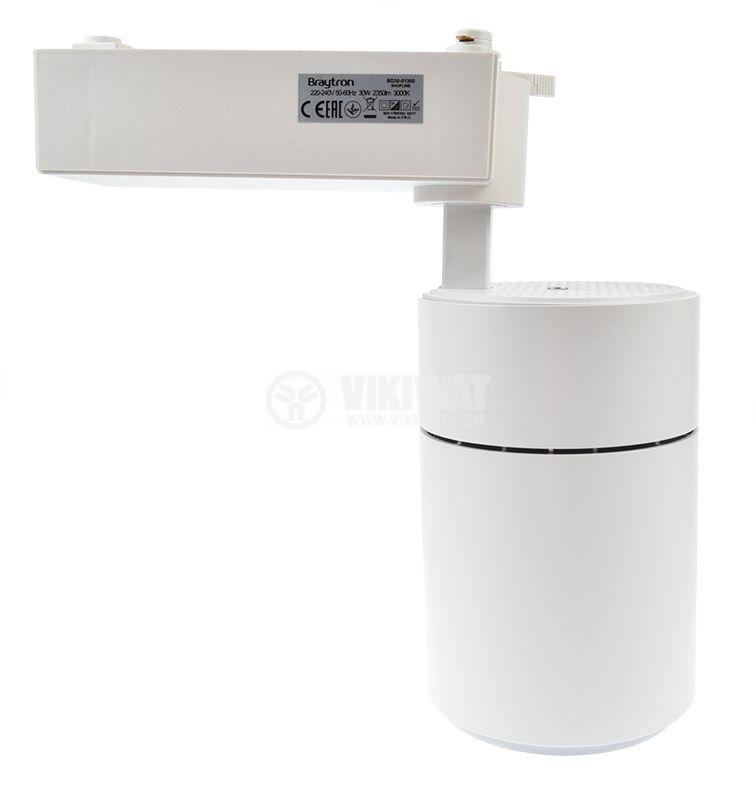 LED track light SHOPLINE-C, 30W, 220-240VAC, 3000K, white color body,  BD30-01300 - 6