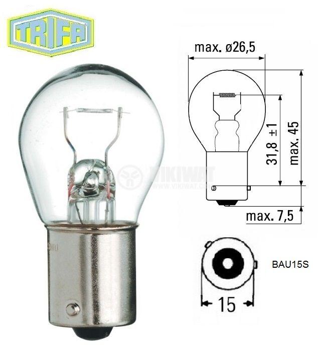 Автомобилна лампа 12V BAU15S