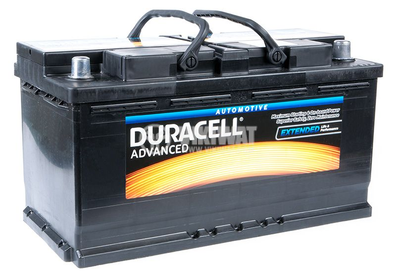 Car battery, 95Ah, starter, 12VDC, DURACELL DA 95H - 1