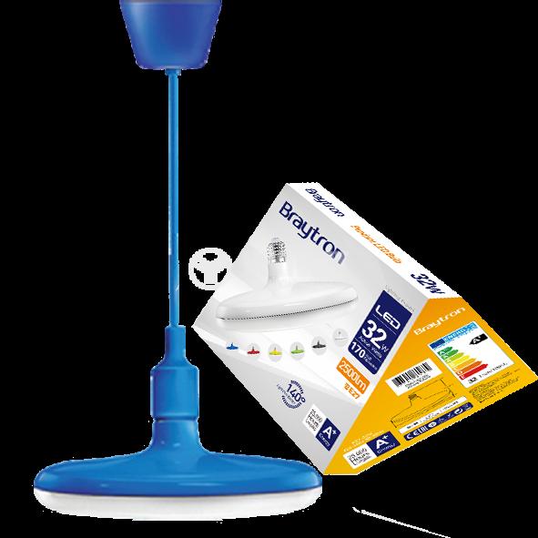 LED bulb UFO, 32W, E27, 2500lm, 3000K, warm white, BB01-63220, blue body - 1