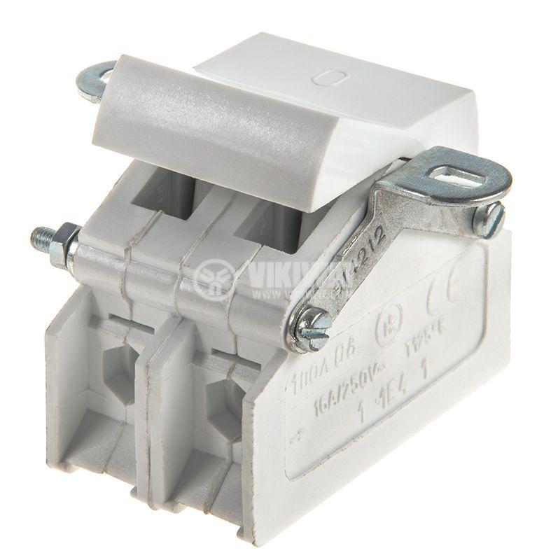 Клавишен превключвател, 16A/250VAC, SPDT, бял - 2
